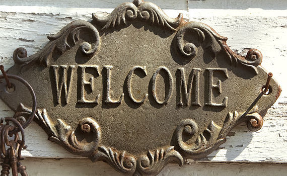 Welcome sign crop