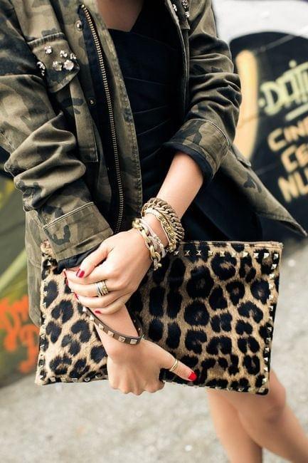 camo and leopard bag