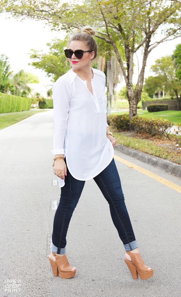 skinny jeans and tunic