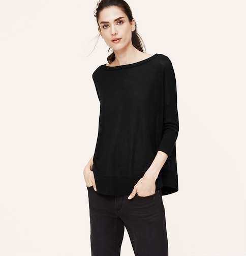 tunic sweater black