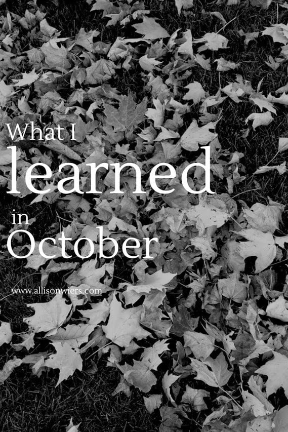 What I Lrnd in Oct 2014
