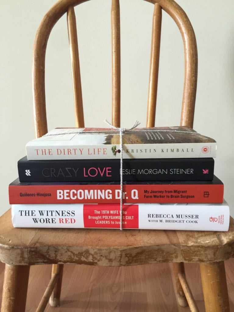 books on chair