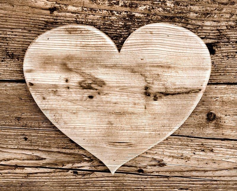 wood on wood heart large